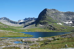 River and lake at Trollstigen,  No Royalty Free Stock Images