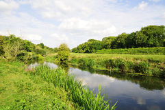 River Landscape. Landscape View of the River Avon Near Bath in Somerset England royalty free stock photo