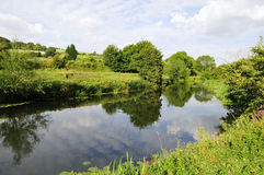 River Landscape. Landscape View of the River Avon Near Bath in Somerset England stock photos