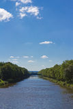 River and landscape. The picture shows a river Stock Photos