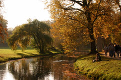 River landscape. Autum landscape with a river Royalty Free Stock Images