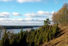 River landscape. A cade dip (nature reserve Royalty Free Stock Photos