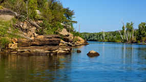 River landscape in Australia Stock Photography