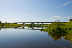 River landscape and Bridge Stock Photos