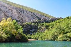 River landscape  - cetina in croatia Stock Image