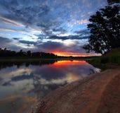 River landscape at dawn Stock Images