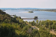River landscape. Dnepr River. The beautiful landscape of the Dnieper River royalty free stock images