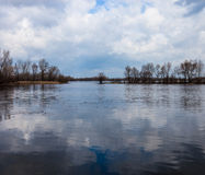 River landscape in early spring Stock Photography