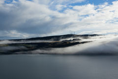 River Landscape with Fog Royalty Free Stock Photography