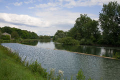 River landscape in france Royalty Free Stock Photo
