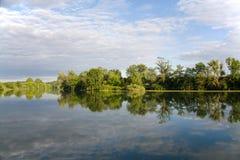 River landscape in france. Flusslandschaft in Frankreich / Le Doubs royalty free stock image