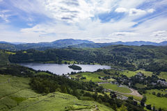 River and landscape in Grasmere royalty free stock images