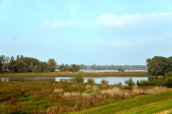 River landscape in Holland stock photo