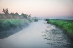 River landscape in the morning Royalty Free Stock Photography
