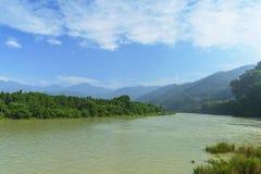 wide river landscape Stock Images