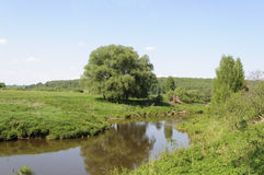 River landscape in spring time Royalty Free Stock Photo