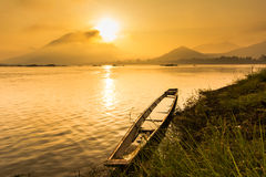River landscape with sunrise Stock Images