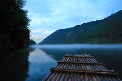 River landscape at sunset Stock Images