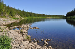 River landscape in the Urals. Royalty Free Stock Photography