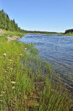 River landscape in the Urals. Royalty Free Stock Images