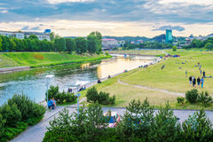 River landscape in Vilnius Stock Photos