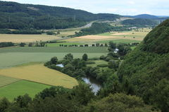River Landscape of the Werra Royalty Free Stock Image