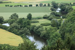 River Landscape of the Werra Stock Photography
