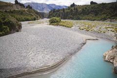 River landscape. On the west coast New Zealand Royalty Free Stock Photos