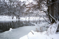 River landscape in winter Royalty Free Stock Image