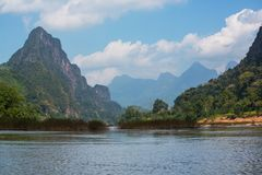 River in Laos Royalty Free Stock Photography