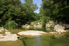 River lauquet in Corbieres, France royalty free stock photography