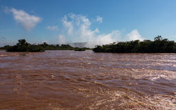 River leading to Iguassu Falls Stock Photography