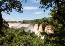 River leading to Iguassu Falls Stock Photo