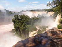 River leading to Iguassu Falls Royalty Free Stock Images