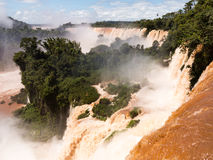 River leading to Iguassu Falls Royalty Free Stock Photo