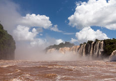 River leading to Iguassu Falls Stock Image
