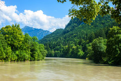 River Lech Royalty Free Stock Photos