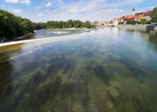 River Lech in Landsberg am Lech Royalty Free Stock Image