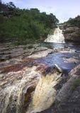 River in Lencois Chapada Diamantina. Dark water rapids in Lencois, Brazil Royalty Free Stock Photos