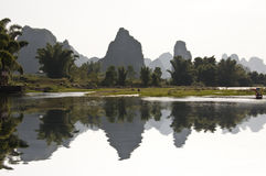 The river Li (lijang) near Yangshuo, Guangx Royalty Free Stock Photos