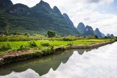River Li. Li river in Yangshuo, next to Guilin, Guagxi province, China Stock Photography