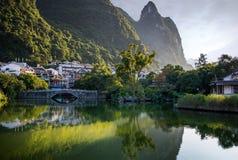 River Li. Li river in Yangshuo, next to Guilin, Guagxi province, China Stock Image