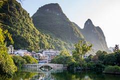 River Li. Li river in Yangshuo, next to Guilin, Guagxi province, China Stock Photos
