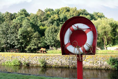 River lifebuoy Royalty Free Stock Image