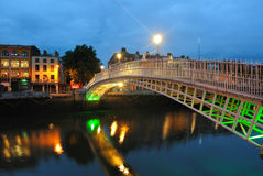River Liffey in Dublin, ireland Royalty Free Stock Photography