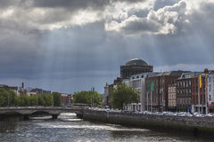 River Liffey - Dublin - Republic of Ireland Royalty Free Stock Photo