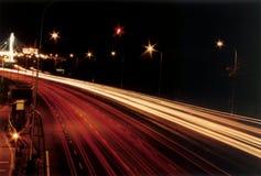 River of lights. Highway night scene Stock Photo
