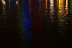 River Lights. City lights reflected in the Yarra River, Melbourne, Victoria, Australia Stock Image