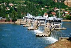 Rhone River Boat Locks near Lyon France Royalty Free Stock Photography