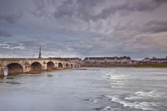 River Loire and Blois Royalty Free Stock Image